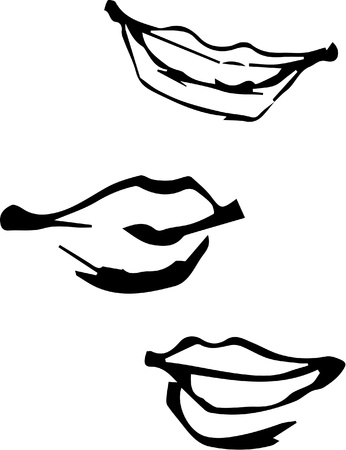Sketchy lips Illustration