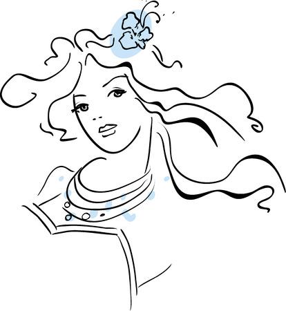 Illustration of beautiful woman