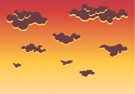 Illustration of Sky sunset