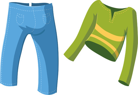 yellow fleece: Illustration of Clothes
