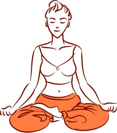 Illustration of lotos pose Illustration