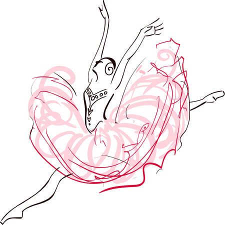 performing: Illustration of Ballerina Illustration