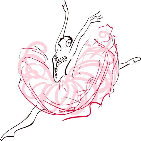 performing: Illustration of Ballerina Illustration