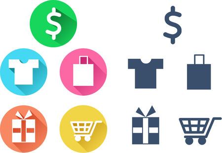 Icons shopping set