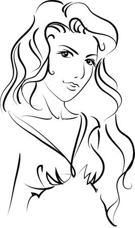 Illustration of Girl Illustration