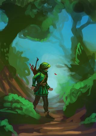 Illustration of Robin Hood