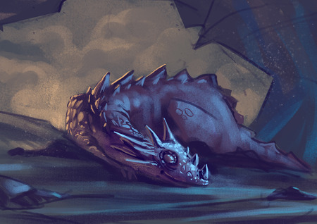Illustration of Sleeping Dragon