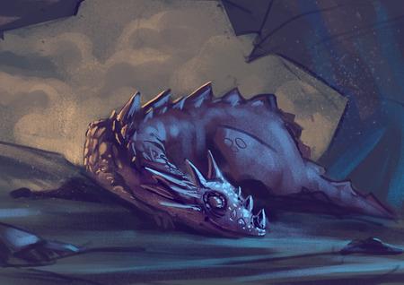 Illustration of Sleeping Dragon
