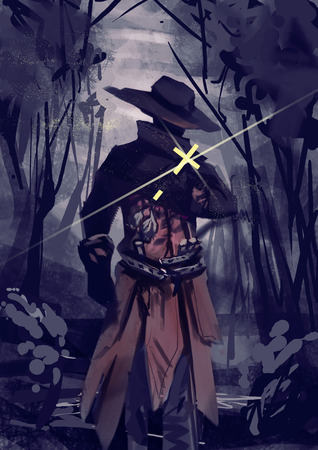 Illustration of Vampire hunter