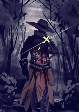 Illustration of Vampire hunter