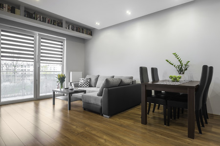 family  room: Family table in comfortable and modern living room