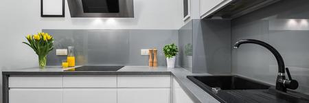 Panorama di piani cucina in tra moderno e semplice