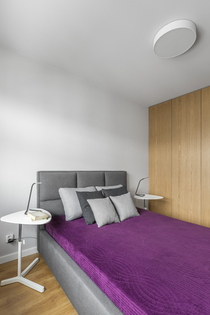 master bedroom: Spacious, comfortable double bed in modern master bedroom