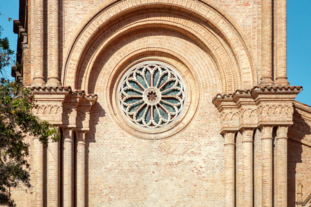 Close-up on Church Of The Sacred Heart of Jesus in Pescara city, Abruzzo region, Italy