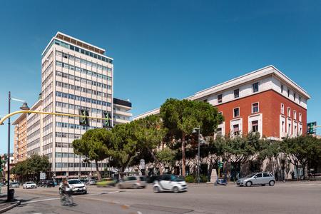One of the streets in italian city Pescara, Abruzzo region