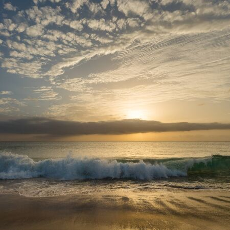 Amazing sky and ocean during sunset at Sal island, Cabo Verde, Cape Verde