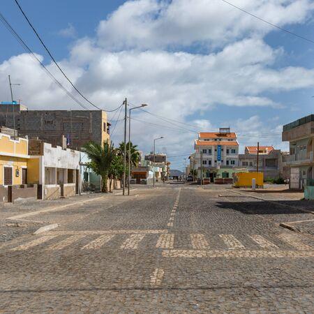Street of Santa Maria city, Sal island, Cabo Verde, Cape Verde Stockfoto