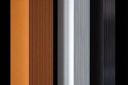 Designed and stylish wall radiators in black, white and copper
