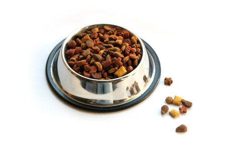 pet food: pet food isolated on white background Stock Photo