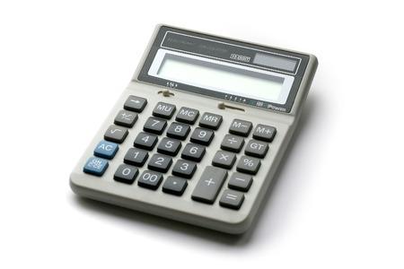 White calculator on white background