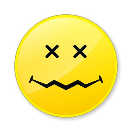 Isolate yellow smile face on white background photo