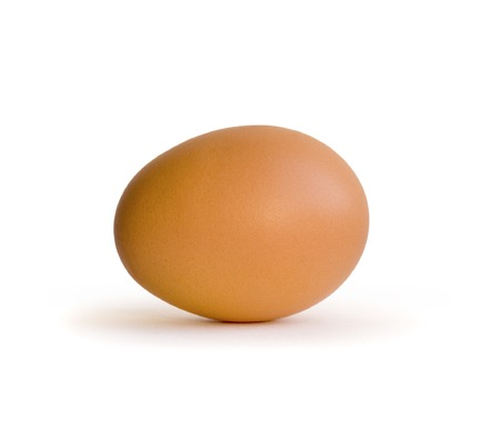 Three egg on white background photo