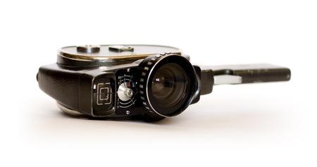 16mm: Movie camera on white background