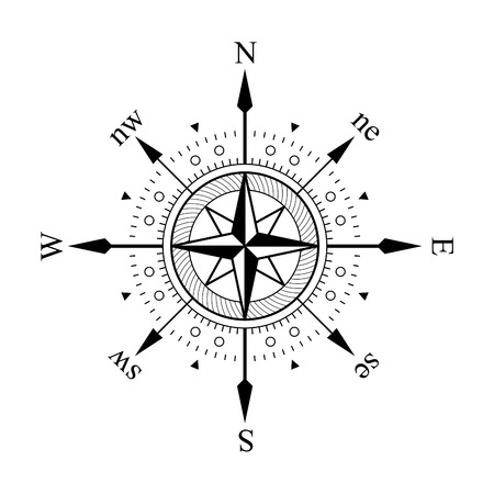 Compass panel on white background Stock Photo - 1565734