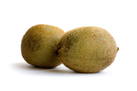 cathartic: Two kiwi on white background