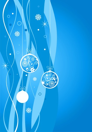 Christmas blue background, vector illustration Vector