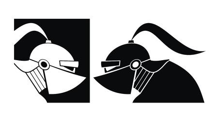 sparta: Silhouette des wei�en und schwarzen Ritter. Vector.