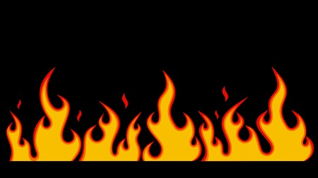Red burning flame pattern. Vector. Vector
