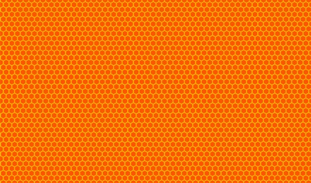 Orange honeycombs pattern. Vector illustration. Stock Vector - 2137415