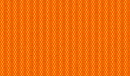 beeswax: Orange honeycombs pattern. Vector illustration. Illustration