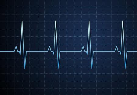 Lifeline in an electrocardiogram. Vector Vector