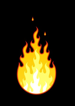 Vector fire on a black background. Stock Vector - 2168803