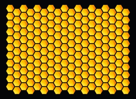 Orange honeycombs pattern. Vector illustration. Vector