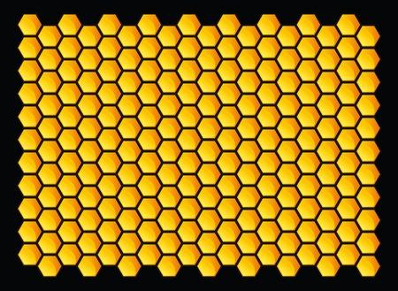 abejas panal: Orange panales patr�n. Ilustraci�n vectorial.