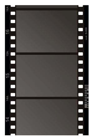 Film Strip Pattern on white background. Vector. Vector