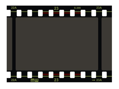 35mm film motion picture camera: Film Strip Patr�n sobre fondo blanco. Vector.
