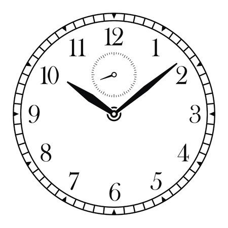 caritas pintadas: Vector reloj cara y las manos  Vectores