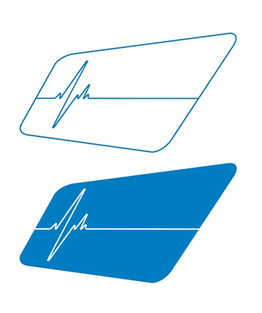 taking pulse: Lifeline in an electrocardiogram. Vector