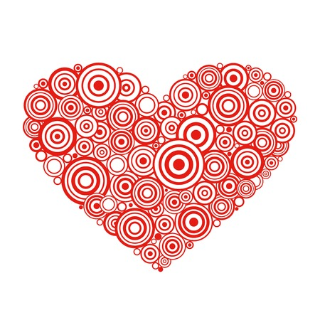 stencil: Heart shape with vector swirls and scrolls.