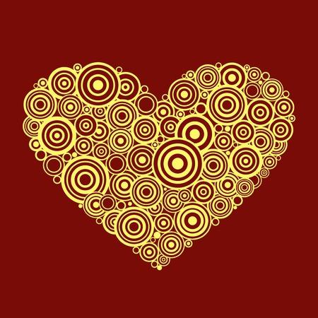 heterosexual: Forma del coraz�n con remolinos y volutas del vector. Vectores