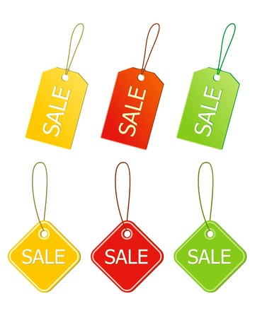 Vector sale labels or tags