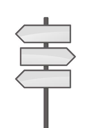 directions: Drie vector pijlen op witte achtergrond