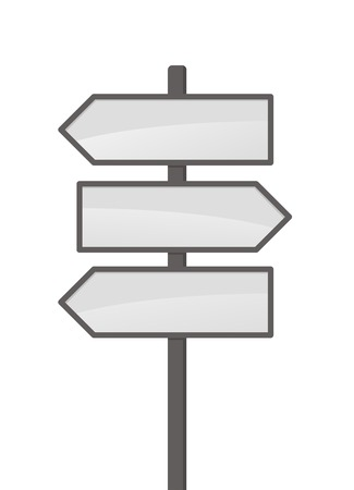 blank sign: Three vector arrows on white background Illustration