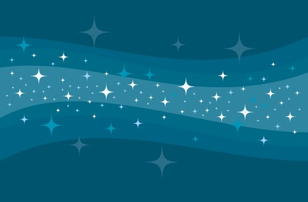 Vector abstract blue Milky way