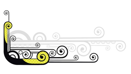 tentacle: Abstract vector tentacle on white background Illustration