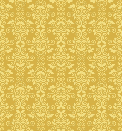 White and gold vector wallparer pattern